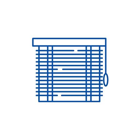Jalousie line concept icon. Jalousie flat  vector website sign, outline symbol, illustration.