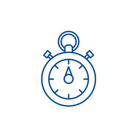 Chronoscope line concept icon. Chronoscope flat  vector website sign, outline symbol, illustration. Stock Vector - 119715522