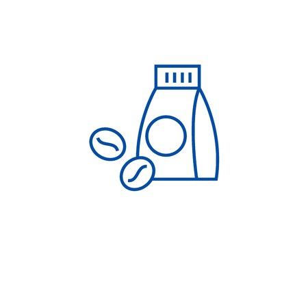Coffee shop line concept icon. Coffee shop flat  vector website sign, outline symbol, illustration.