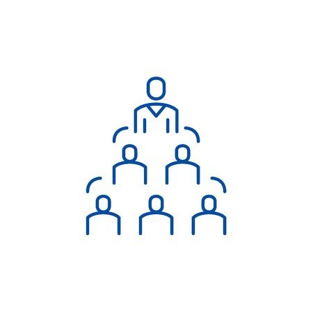 Icône de concept de ligne de structure d'entreprise. Structure de l'entreprise vecteur site Web signe, symbole du contour, illustration.
