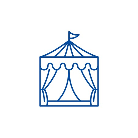 Circus line concept icon. Circus flat  vector website sign, outline symbol, illustration. Standard-Bild - 119722721