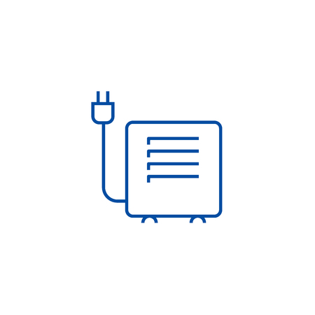 Convector, heater line concept icon. Convector, heater flat  vector website sign, outline symbol, illustration. 向量圖像
