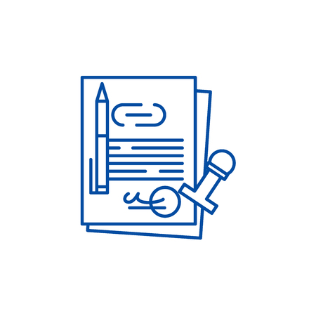 Corporate law line concept icon. Corporate law flat  vector website sign, outline symbol, illustration. Illustration