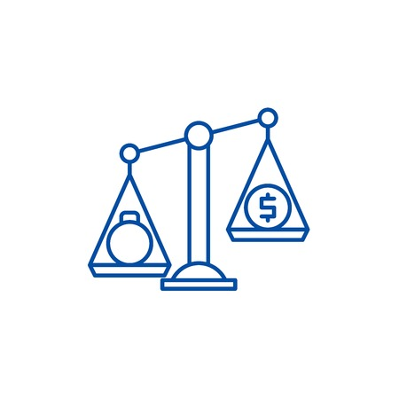 Debentures line concept icon. Debentures flat  vector website sign, outline symbol, illustration.