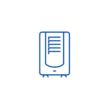 Dehumidifier line concept icon. Dehumidifier flat  vector website sign, outline symbol, illustration. 矢量图像