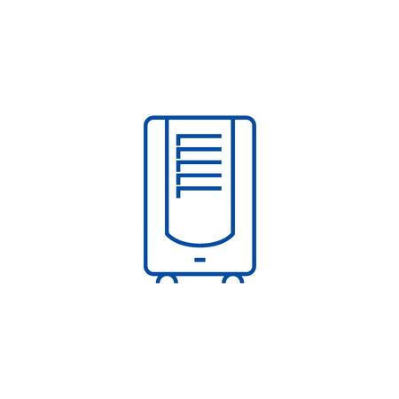 Dehumidifier line concept icon. Dehumidifier flat  vector website sign, outline symbol, illustration. Illustration