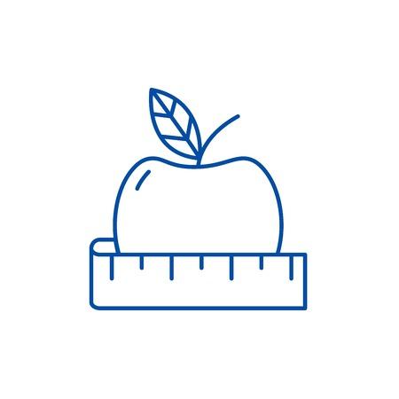 Diet line concept icon. Diet flat  vector website sign, outline symbol, illustration.