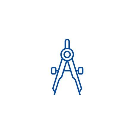 Divider line concept icon. Divider flat  vector website sign, outline symbol, illustration.