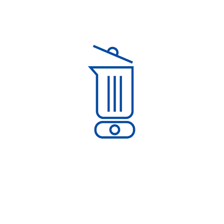 Electric blender line concept icon. Electric blender flat  vector website sign, outline symbol, illustration. Illustration