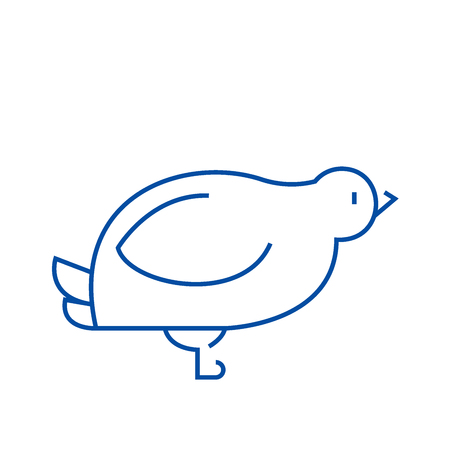 Dove,quail line concept icon. Dove,quail flat  vector website sign, outline symbol, illustration.