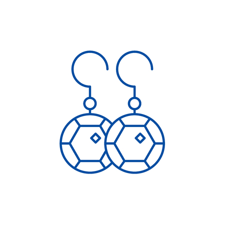 Earring line concept icon. Earring flat  vector website sign, outline symbol, illustration. Standard-Bild - 119742828