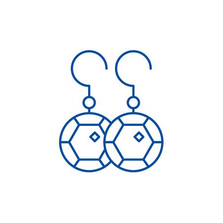 Earring line concept icon. Earring flat  vector website sign, outline symbol, illustration. Illustration