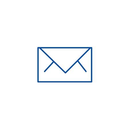 Envelope line concept icon. Envelope flat  vector website sign, outline symbol, illustration.