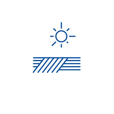 Planting climate line concept icon. Planting climate flat  vector website sign, outline symbol, illustration. 일러스트