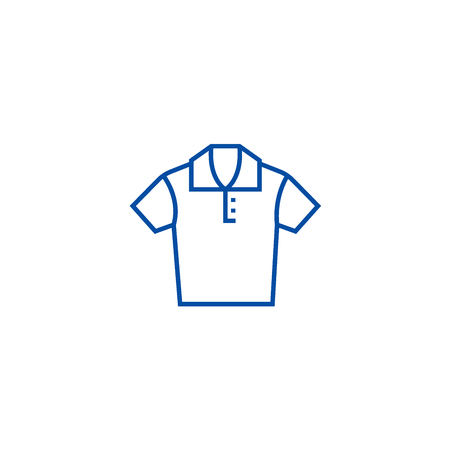 Polo shirt line concept icon. Polo shirt flat  vector website sign, outline symbol, illustration.