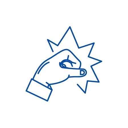 Punch line concept icon. Punch flat  vector website sign, outline symbol, illustration. Ilustração