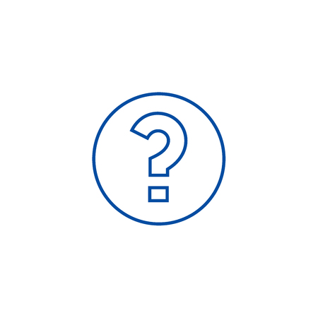 Question line concept icon. Question flat  vector website sign, outline symbol, illustration. Çizim