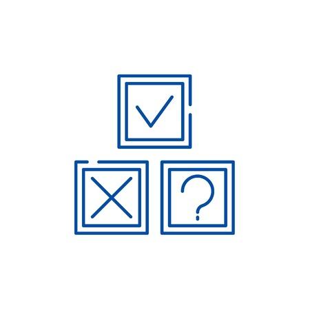 Rebus line concept icon. Rebus flat  vector website sign, outline symbol, illustration.
