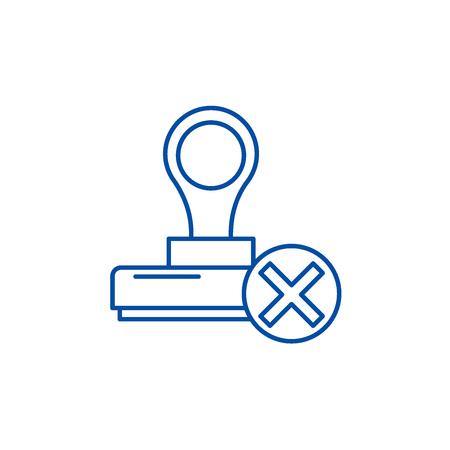 Renouncement line concept icon. Renouncement flat  vector website sign, outline symbol, illustration. Illustration