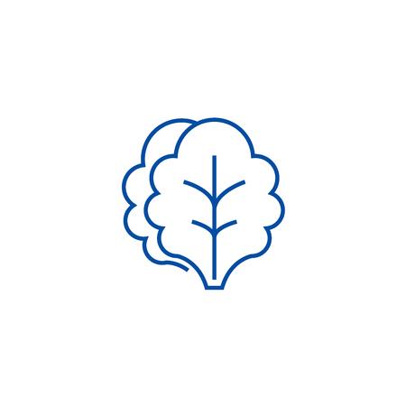 Salad line concept icon. Salad flat  vector website sign, outline symbol, illustration.