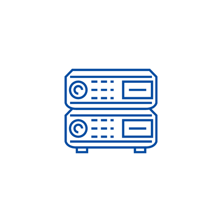 Router line concept icon. Router flat  vector website sign, outline symbol, illustration. 向量圖像