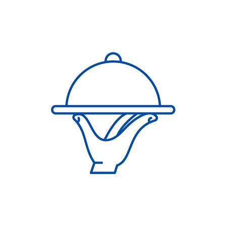 Service line concept icon. Service flat  vector website sign, outline symbol, illustration. Illustration