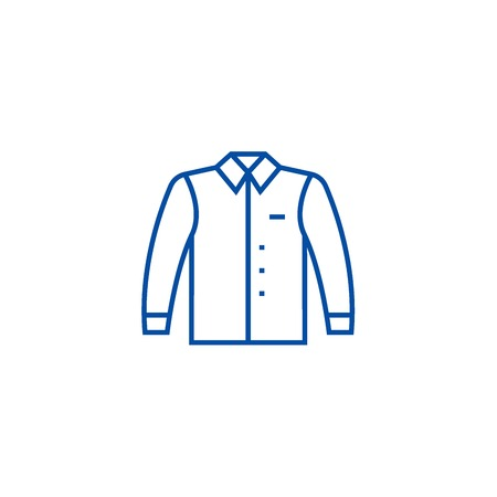 Shirt line concept icon. Shirt flat  vector website sign, outline symbol, illustration.