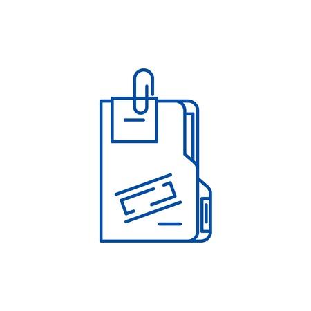 Secret archive line concept icon. Secret archive flat  vector website sign, outline symbol, illustration.