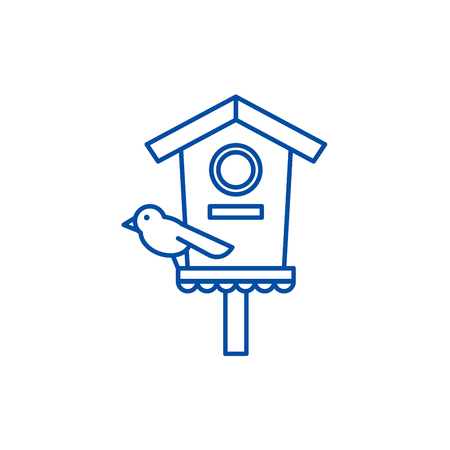 Screamer line concept icon. Screamer flat  vector website sign, outline symbol, illustration.