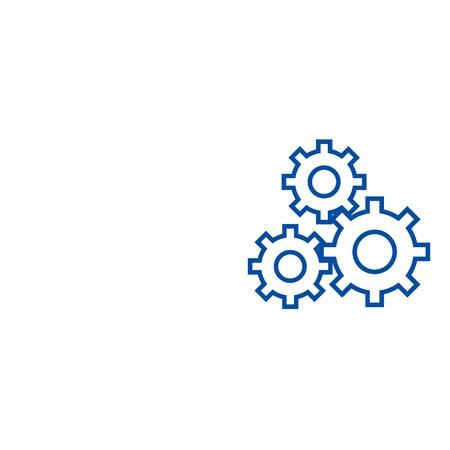 Icône de concept de ligne de signe de paramètres. Signe de paramètres vecteur plat signe de site Web, symbole du contour, illustration. Vecteurs