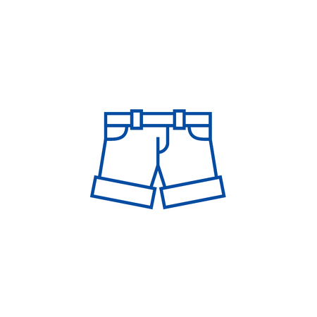 Shorts,briefs line concept icon. Shorts,briefs flat  vector website sign, outline symbol, illustration.