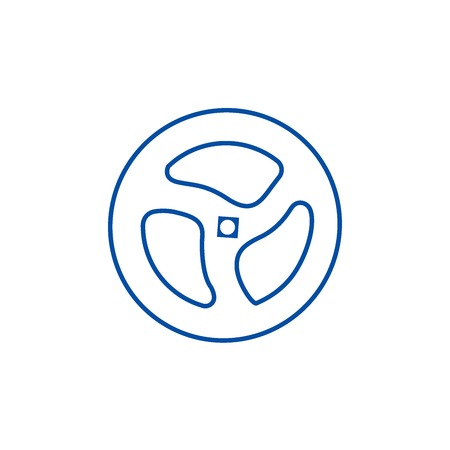 Shutter pipe, valve line concept icon. Shutter pipe, valve flat  vector website sign, outline symbol, illustration. Archivio Fotografico - 119921219