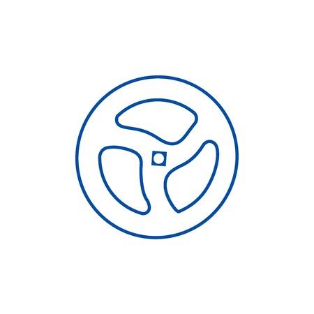 Tuyau d'obturation, icône de concept de ligne de vanne. Tuyau d'obturation, signe de site Web de vecteur plat de valve, symbole du contour, illustration.