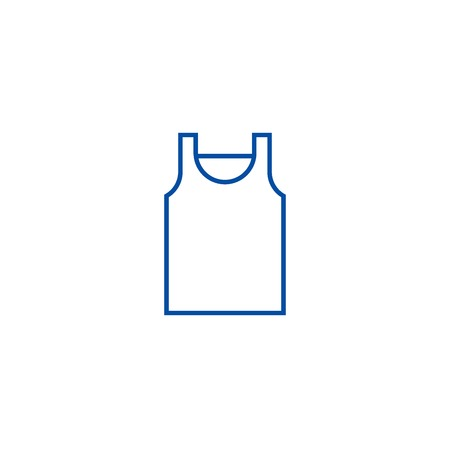 Singlet line concept icon. Singlet flat  vector website sign, outline symbol, illustration.