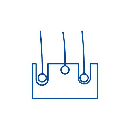 Skin structure line concept icon. Skin structure flat  vector website sign, outline symbol, illustration. Illustration