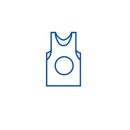 Sleeveles line concept icon. Sleeveles flat  vector website sign, outline symbol, illustration. Ilustração