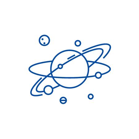 Solar  line concept icon. Solar  flat  vector website sign, outline symbol, illustration. Illustration