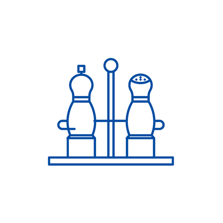 Spice line concept icon. Spice flat  vector website sign, outline symbol, illustration.