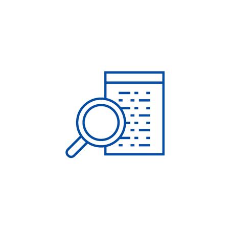 Software development line concept icon. Software development flat  vector website sign, outline symbol, illustration.