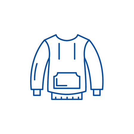 Sportswear line concept icon. Sportswear flat  vector website sign, outline symbol, illustration.