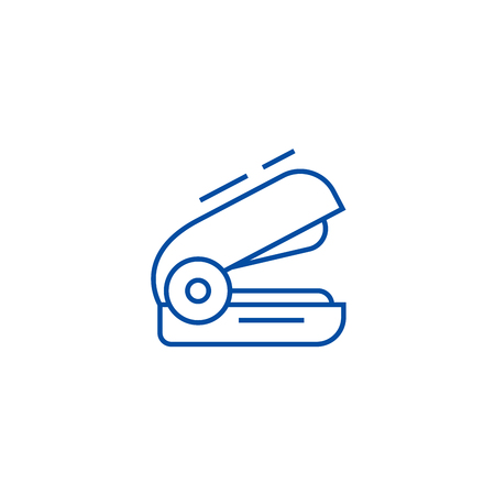 Stapler line concept icon. Stapler flat  vector website sign, outline symbol, illustration. Stock Illustratie
