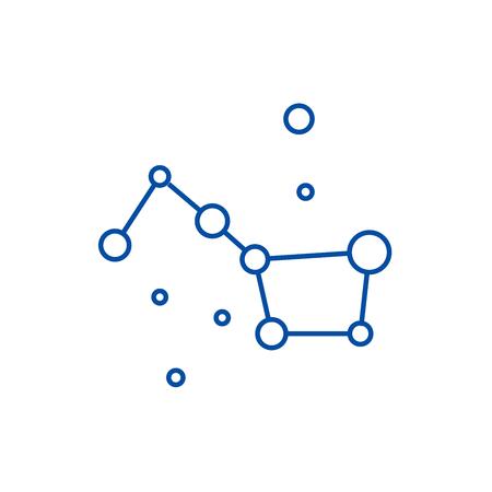 Stars,big dipper,great bear line concept icon. Stars,big dipper,great bear flat  vector website sign, outline symbol, illustration. 일러스트