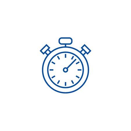 Stopwatch,timer line concept icon. Stopwatch,timer flat  vector website sign, outline symbol, illustration.