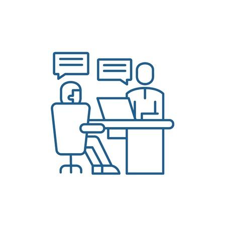 Analytics department line concept icon. Analytics department flat  vector website sign, outline symbol, illustration.