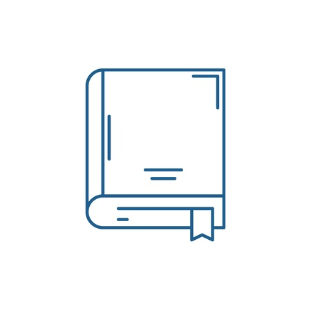 Archive book line concept icon. Archive book flat  vector website sign, outline symbol, illustration. Çizim