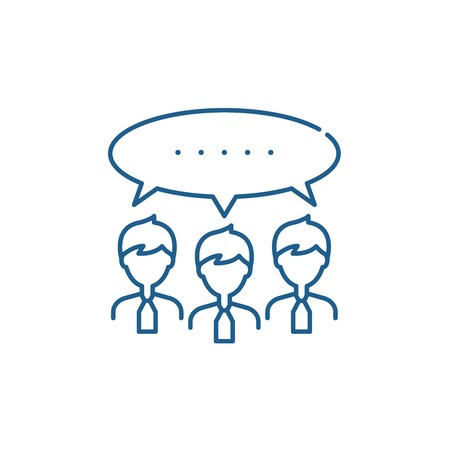 Argumentation line concept icon. Argumentation flat  vector website sign, outline symbol, illustration. Фото со стока - 119919711