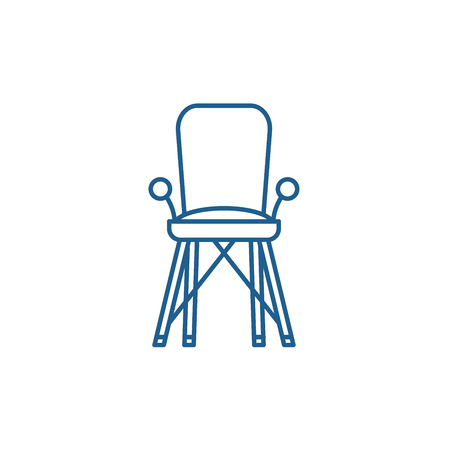 Baby chair in room line concept icon. Baby chair in room flat  vector website sign, outline symbol, illustration. Ilustrace
