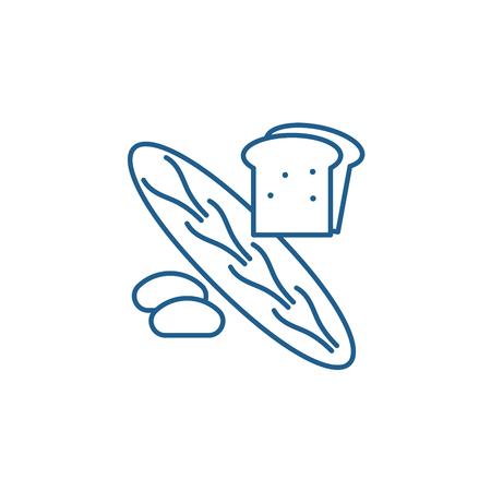 Bakery shop line concept icon. Bakery shop flat  vector website sign, outline symbol, illustration.