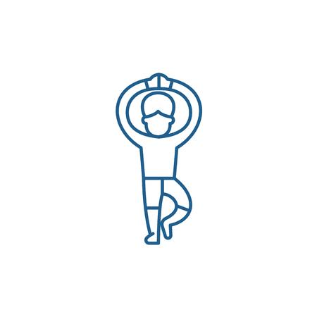 Icono de concepto de línea de ballet. Sitio web de vector plano de ballet, signo, símbolo de contorno, Ilustración.