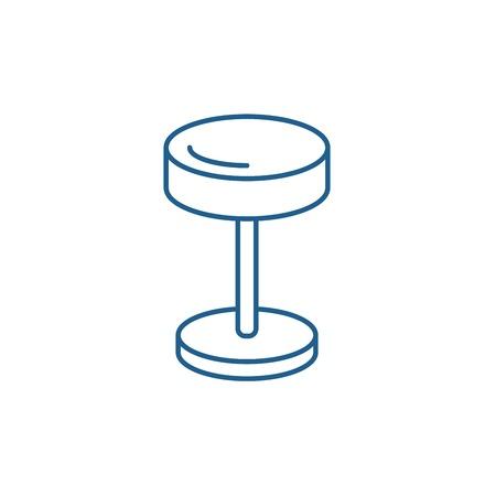 Bedside lamp line concept icon. Bedside lamp flat  vector website sign, outline symbol, illustration.